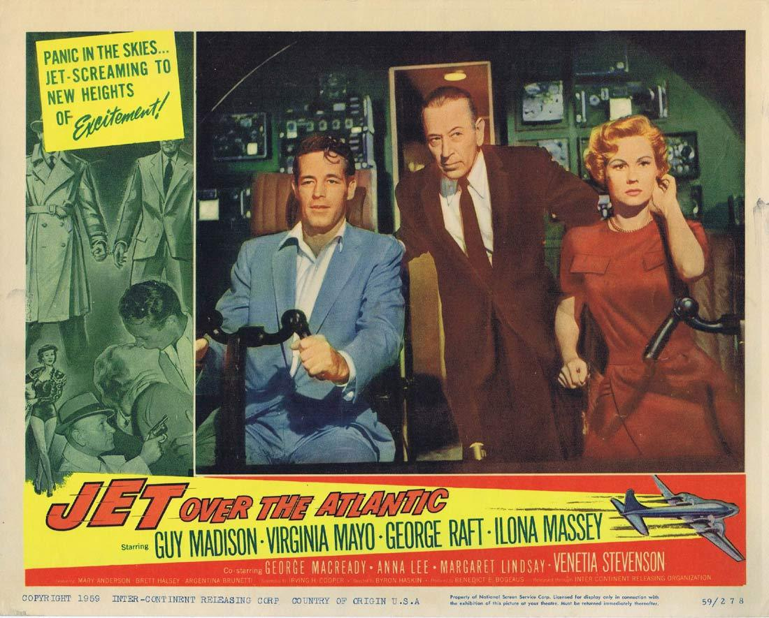 JET OVER THE ATLANTIC Original Lobby Card  Guy Madison Virginia Mayo George Raft