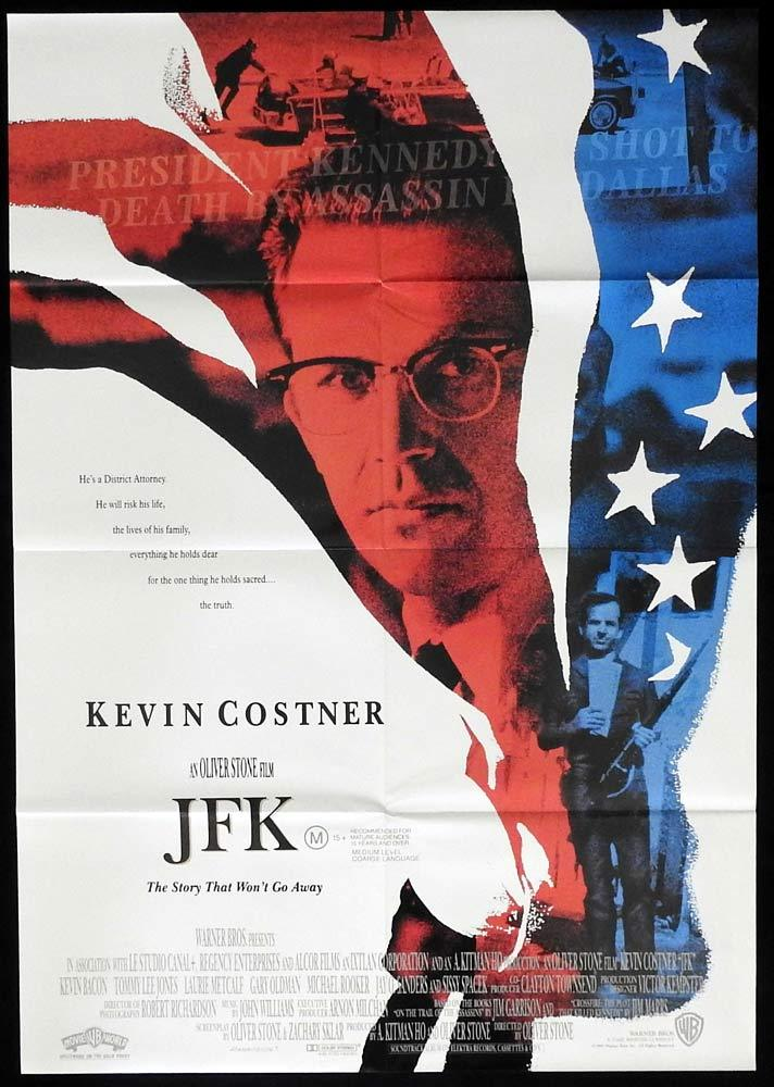 JFK One sheet Movie Poster Kevin Costner Kennedy Assassination