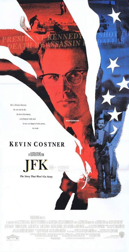 JFK Original daybill Movie Poster  Kevin Costner OLIVER STONE Kevin Bacon