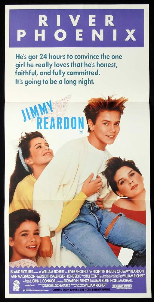 A Night in the Life of Jimmy Reardon, William Richert, River Phoenix, Ann Magnuson, Meredith Salenger, Ione Skye
