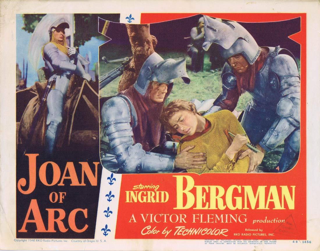 JOAN OF ARC Lobby Card 4 Ingrid Bergman Victor Fleming RKO