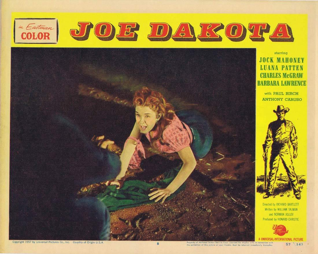 JOE DAKOTA Lobby Card 8 Jock Mahoney Luana Patten Charles McGraw