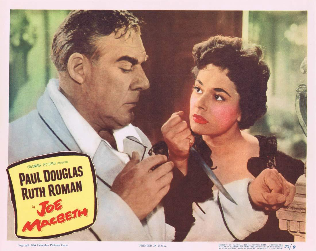 JOE MACBETH Original Lobby Card 2 Paul Douglas Ruth Roman Bonar Colleano