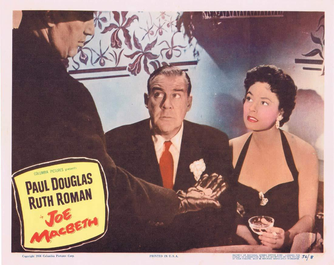 JOE MACBETH Original Lobby Card 3 Paul Douglas Ruth Roman Bonar Colleano