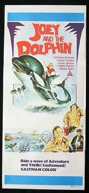 JOEY AND THE DOLPHIN Daybill Movie poster 1964 Leo McKern Dennis Price