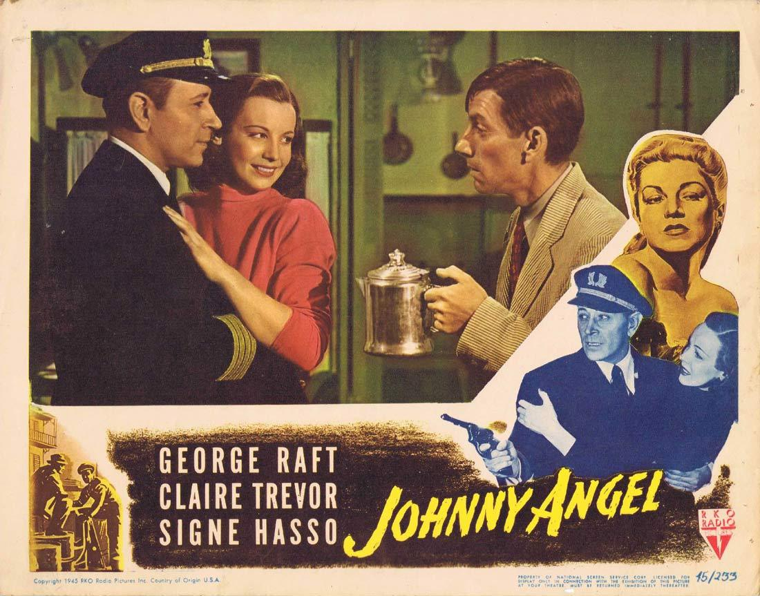 JOHNNY ANGEL Original Lobby Card George Raft Claire Trevor