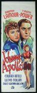 JOHNNY APOLLO 1940 Tyrone Power Dorothy Lamour RARE poster