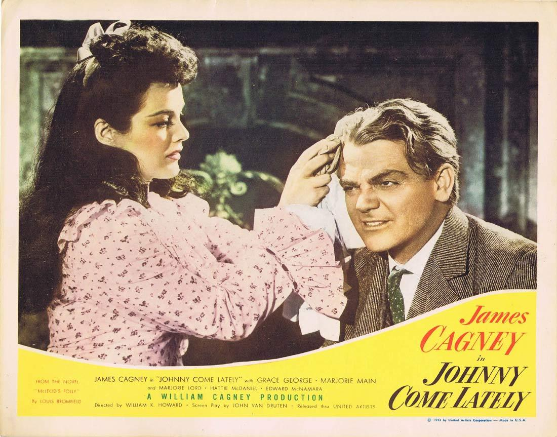 JOHNNY COME LATELY Vintage Movie Lobby Card James Cagney Grace George Marjorie Main