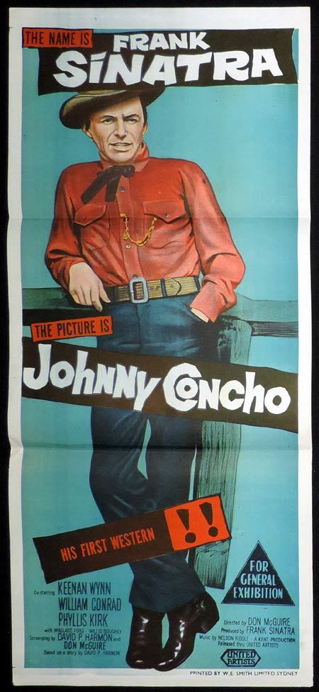 JOHNNY CONCHO Original Daybill Movie Poster Frank Sinatra Western