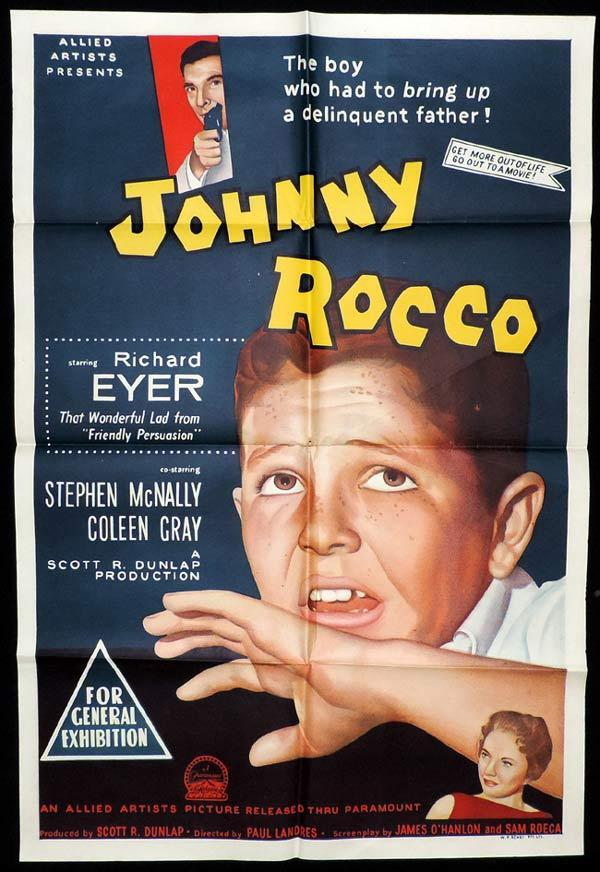 JOHNNY ROCCO One Sheet Movie Poster Stephen McNally