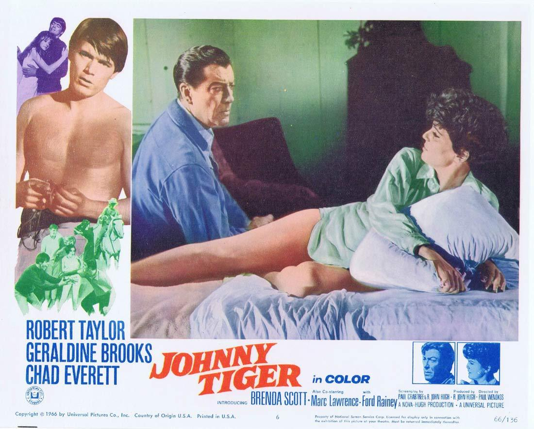 JOHNNY TIGER Lobby Card 6 Robert Taylor Geraldine Brooks