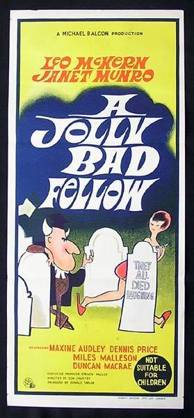 A JOLLY BAD FELLOW Daybill Movie poster 1964 Leo McKern Dennis Price