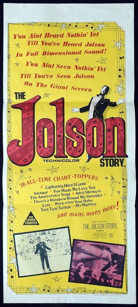 THE JOLSON STORY Original daybill Movie Poster 1960sr