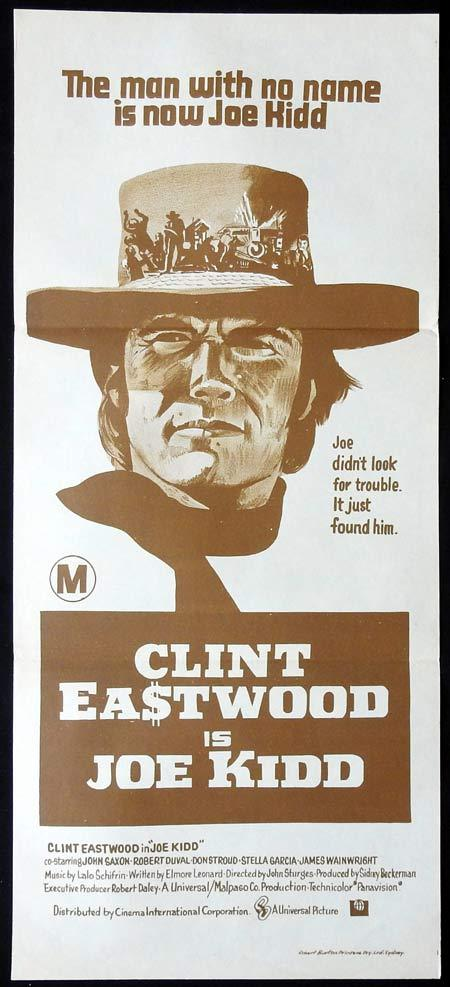 JOE KIDD Original Daybill Movie Poster Clint Eastwood