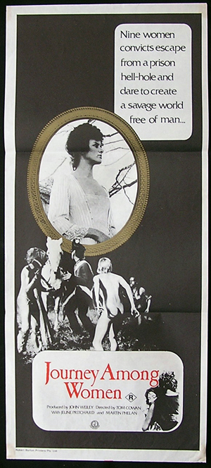 JOURNEY AMONG WOMEN Daybill Movie poster 1977 Australian Cinema