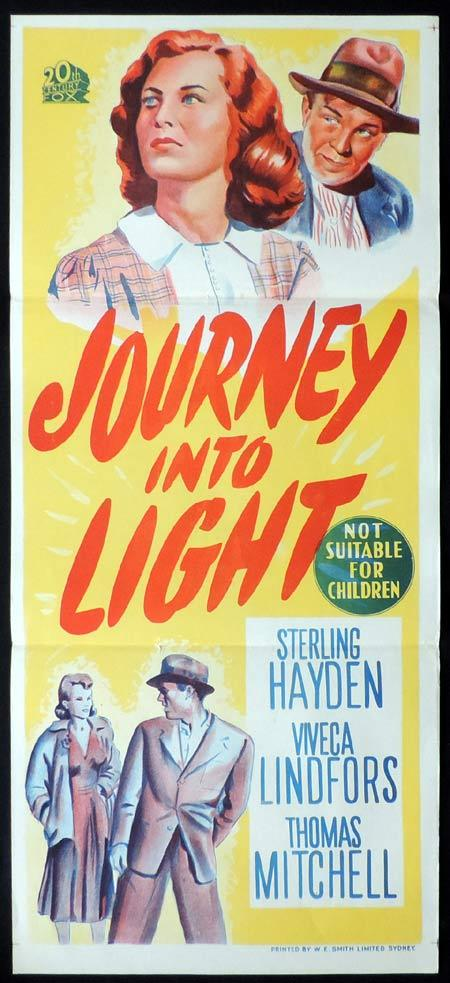 JOURNEY INTO LIGHT Original Daybill Movie Poster Viveca Lindfors Sterling Hayden