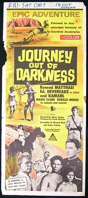 JOURNEY OUT OF THE DARKNESS Movie poster 1977 Australian Cinema Daybill