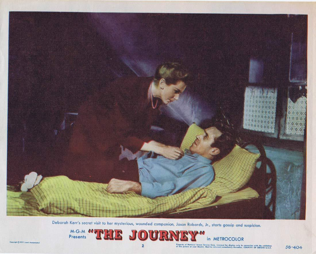 THE JOURNEY Original Lobby Card 2 Deborah Kerr Yul Brynner