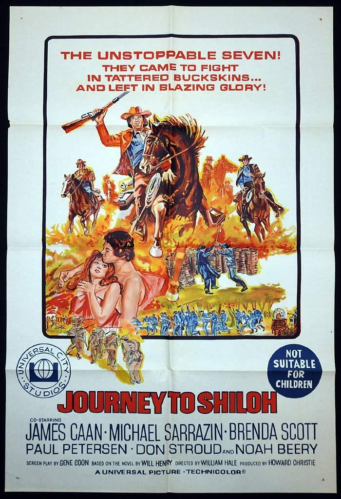 JOURNEY TO SHILOH Original One sheet Movie poster James Caan Michael Sarrazin