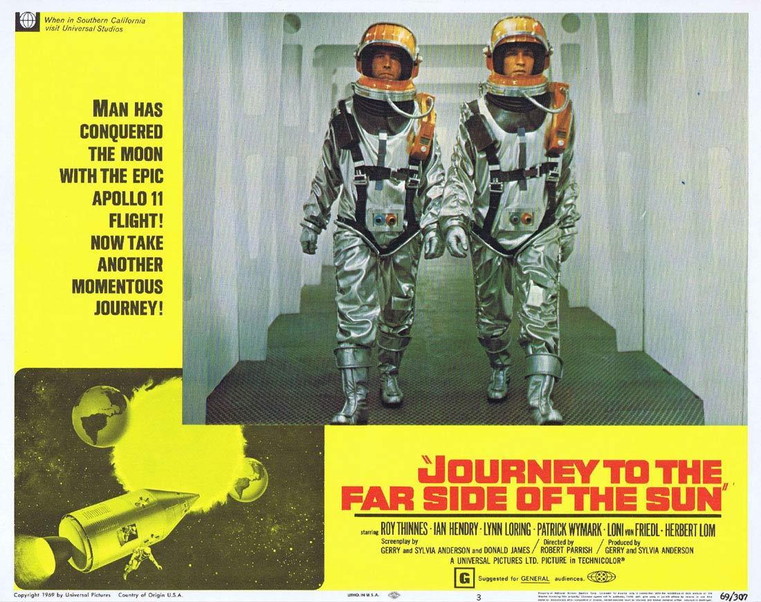 JOURNEY TO THE FAR SIDE OF THE SUN Lobby Card 3 Roy Thinnes Ian Hendry Lynn Loring Sci Fi