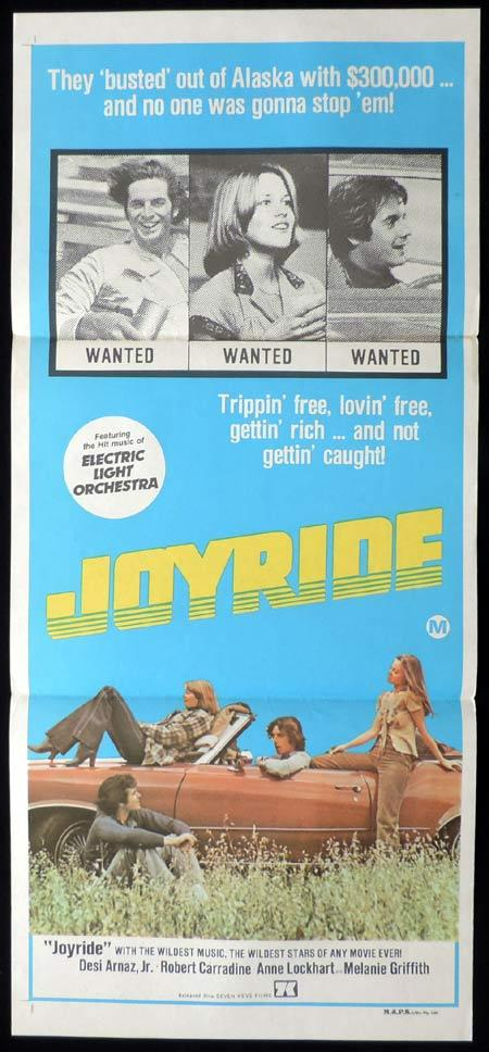 JOYRIDE Original Daybill Movie Poster Melanie Griffith Desi Arnaz