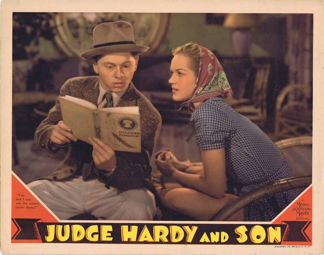 JUDGE HARDY AND SON Original Lobby Card 1939 Lewis Stone Mickey Rooney Cecilia Parker