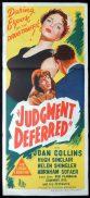 JUDGEMENT DEFERRED Original Daybill Movie Poster Joan Collins Film Noir