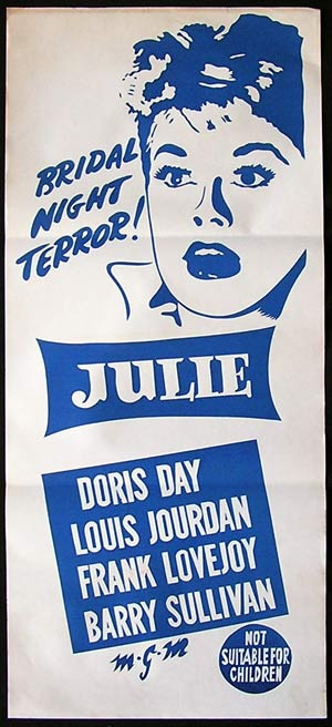 JULIE '56-Doris Day-Jourdan-Lovejoy RARE poster