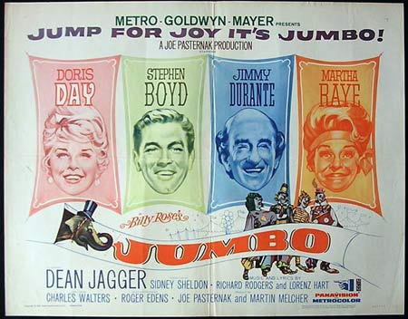 JUMBO '62-Doris Day-Durante US HALF SHEET poster