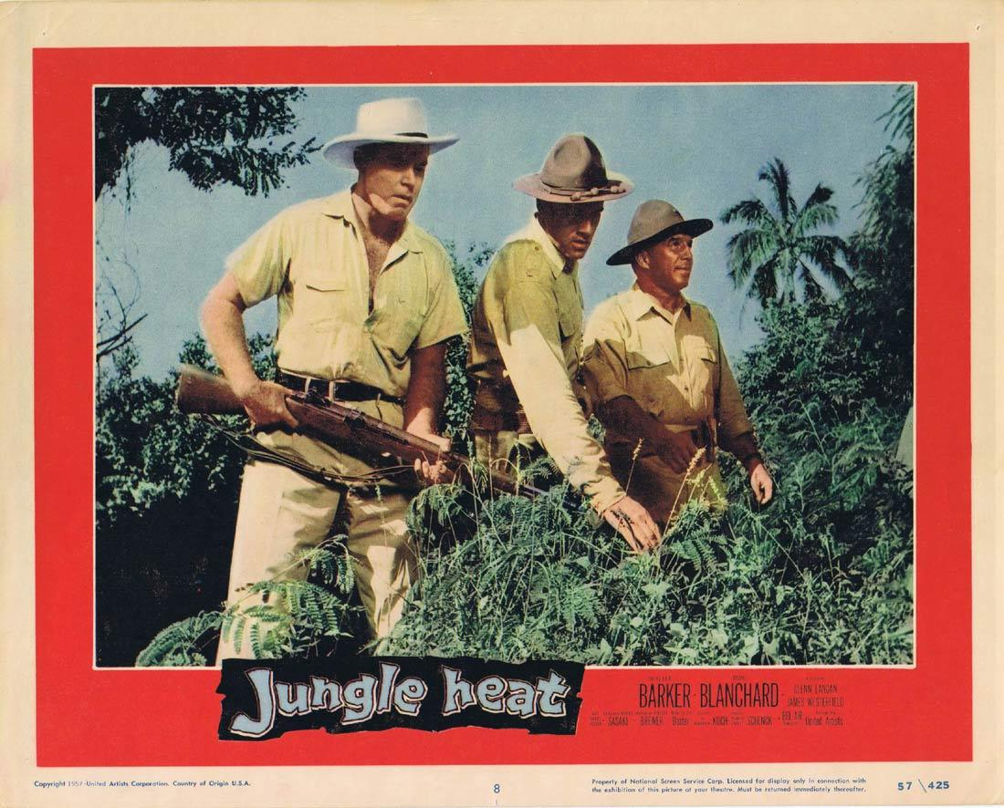 JUNGLE HEAT Lobby Card 8 Lex Barker Mari Blanchard James Westerfield