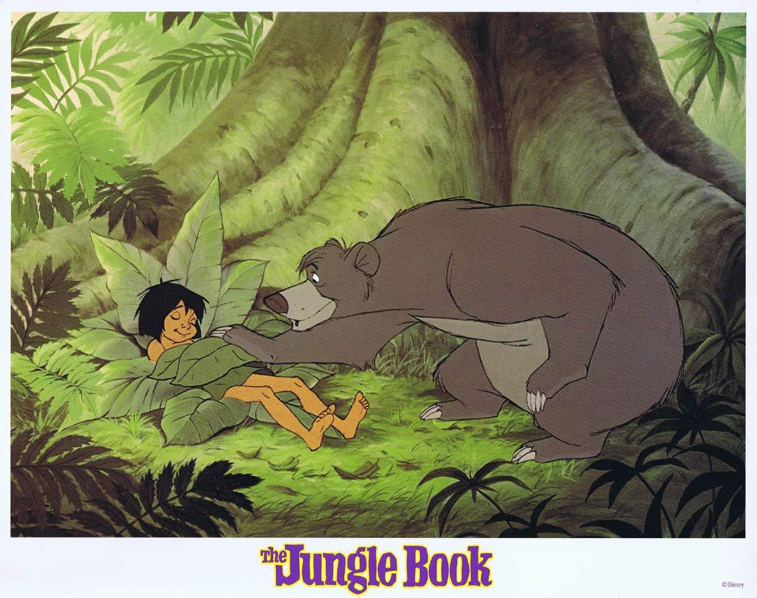 THE JUNGLE BOOK Original Lobby Card 1 Walt Disney 1980sr