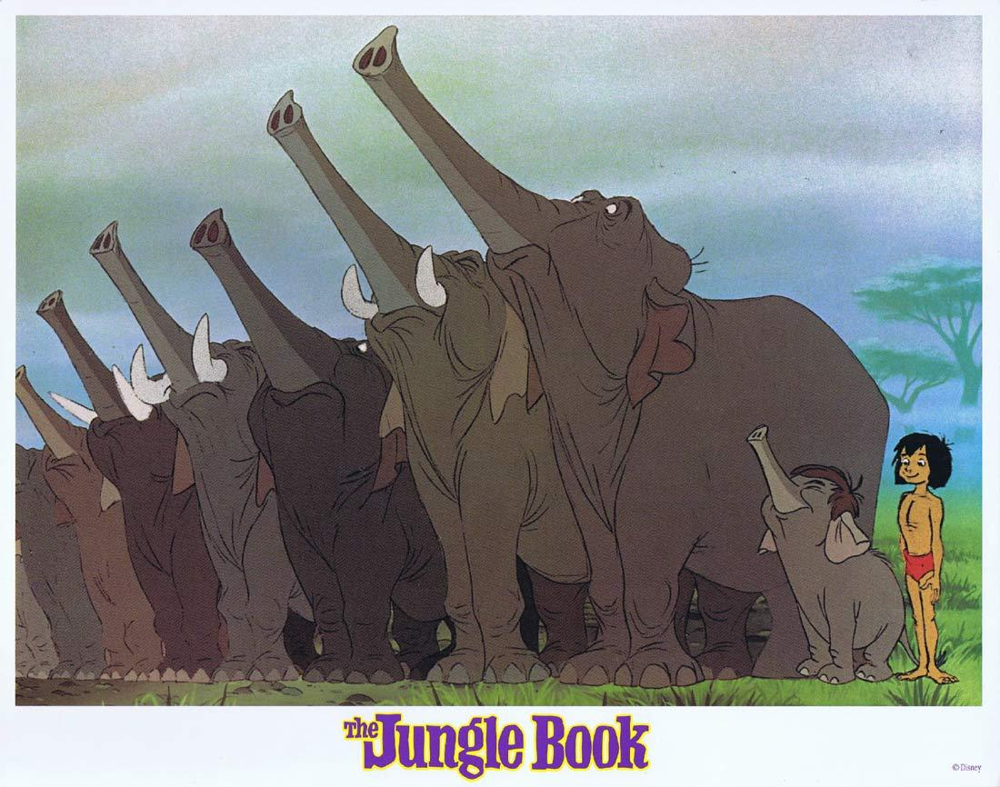 THE JUNGLE BOOK Original Lobby Card 3 Walt Disney 1980sr