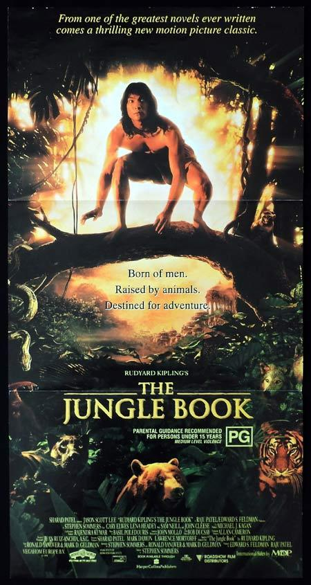 THE JUNGLE BOOK Original Daybill Movie Poster Jason Scott Lee Kipling