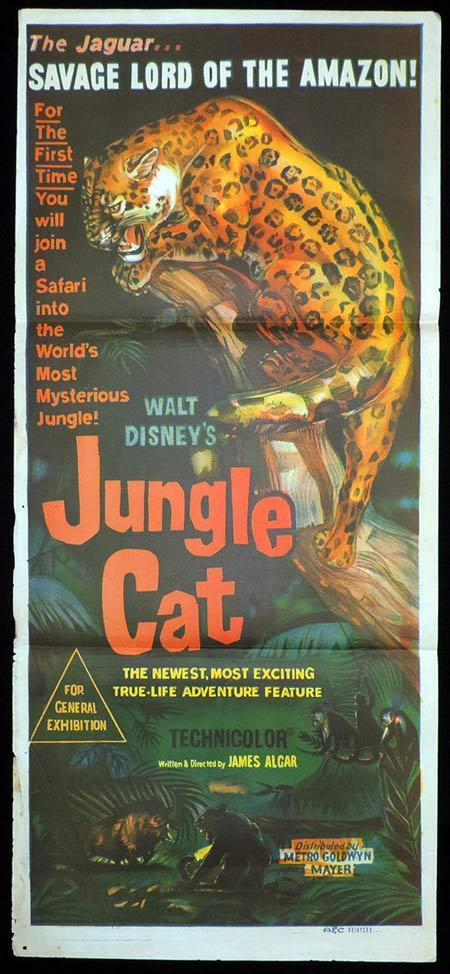 JUNGLE CAT Daybill Movie Poster Disney Safari