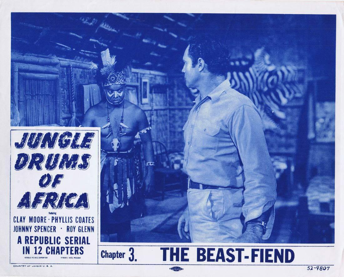 JUNGLE DRUMS OF AFRICA Original Lobby Card Columbia Serial 1952