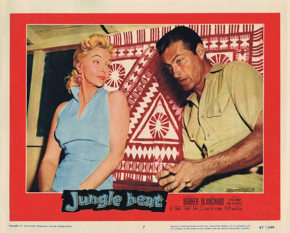 JUNGLE HEAT Lobby Card 7 Lex Barker Mari Blanchard James Westerfield