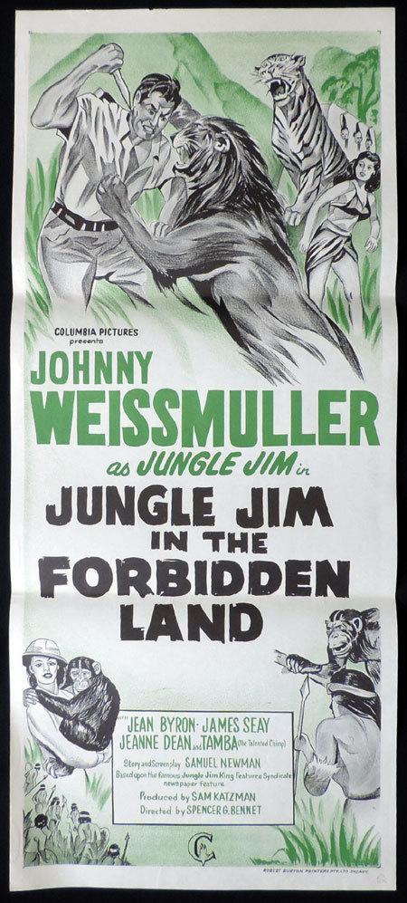 JUNGLE MAN EATERS Daybill Movie Poster Johnny Weissmuller 60sr Jungle Jim