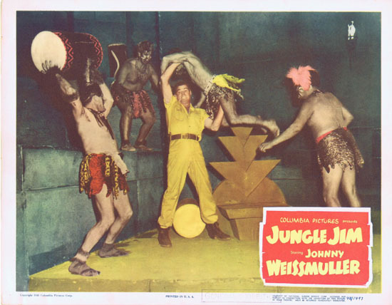 JUNGLE JIM 1948 Lobby Card 2 Johnny Weissmuller
