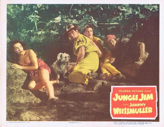 JUNGLE JIM 1948 Lobby Card 3 Johnny Weissmuller