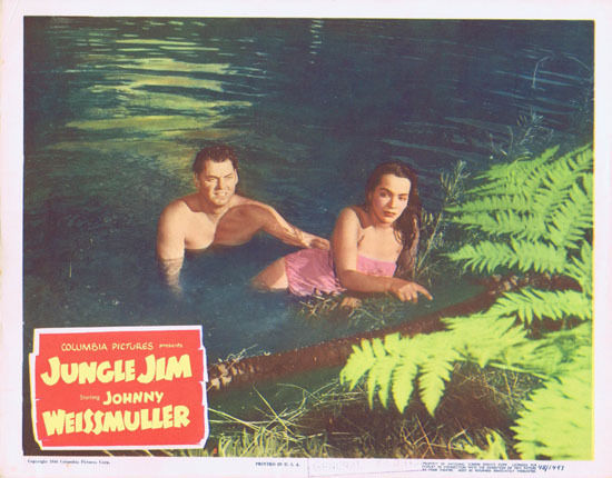 JUNGLE JIM 1948 Lobby Card 4 Johnny Weissmuller