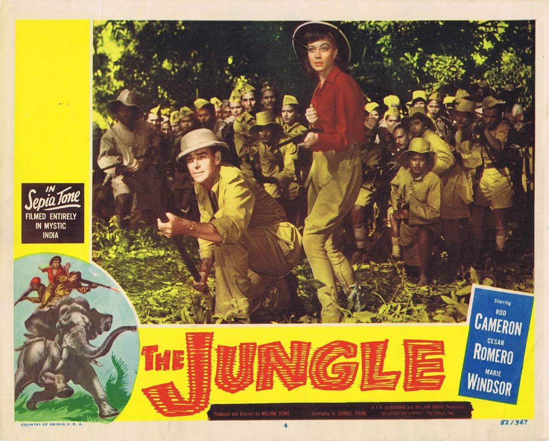 THE JUNGLE Lobby Card 4 Rod Cameron Cesar Romero Marie Windsor