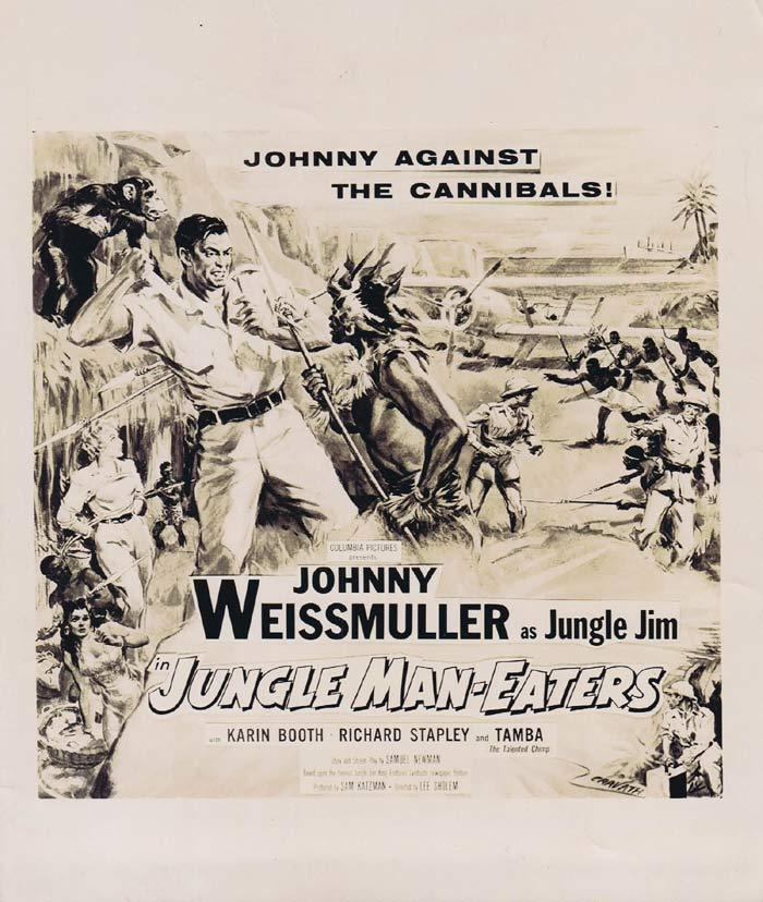 JUNGLE MAN EATERS Movie Still 5 Jungle Jim Johnny Weissmuller