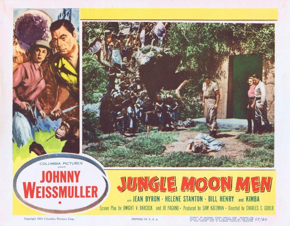 JUNGLE MOON MEN 1955 Lobby Card 1 Jungle Jim Johnny Weissmuller