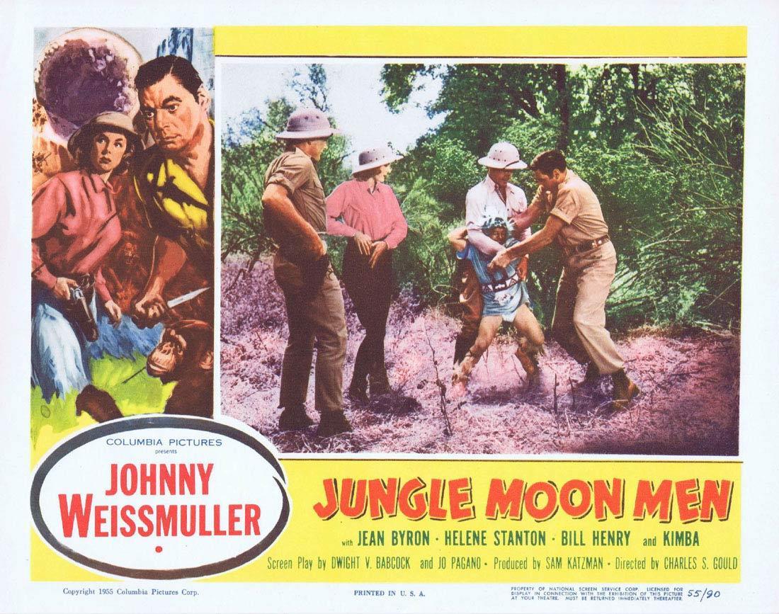 JUNGLE MOON MEN 1955 Lobby Card 6 Jungle Jim Johnny Weissmuller