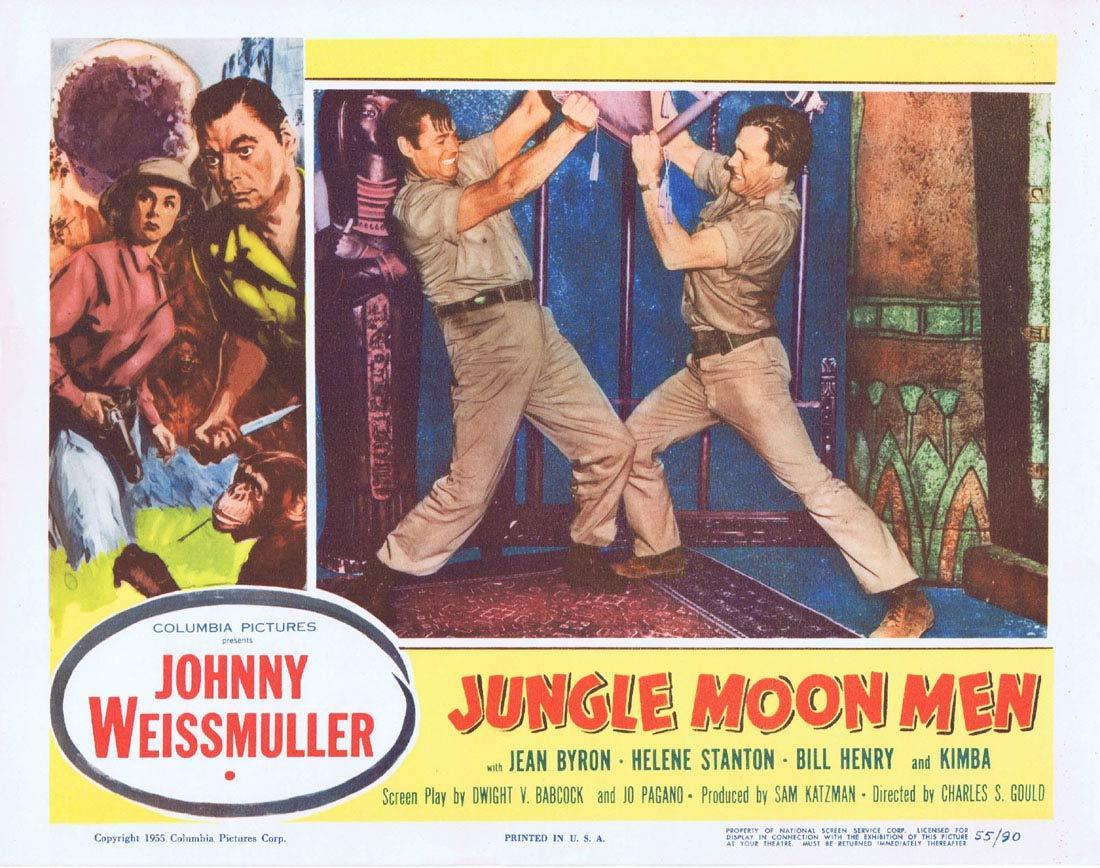JUNGLE MOON MEN 1955 Lobby Card 7 Jungle Jim Johnny Weissmuller