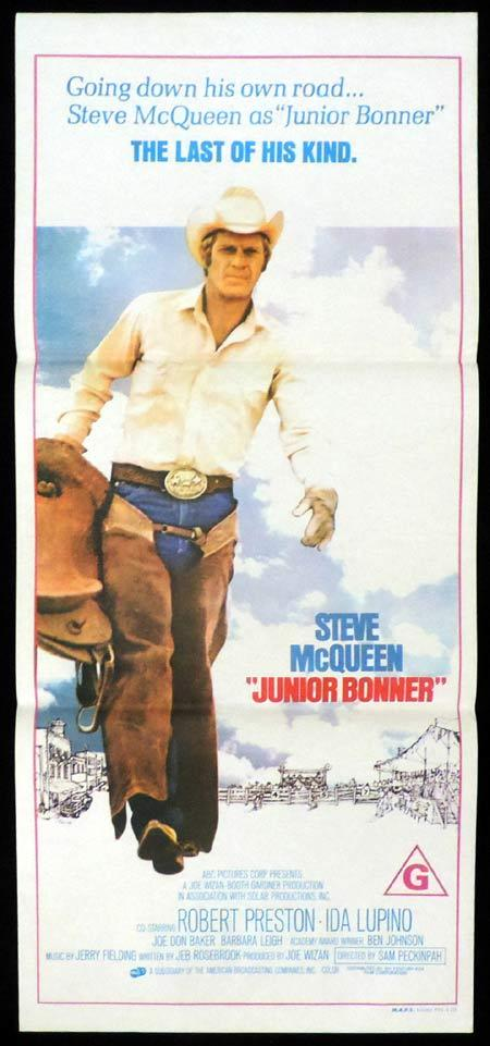 JUNIOR BONNER Original Daybill Movie Poster Steve McQueen