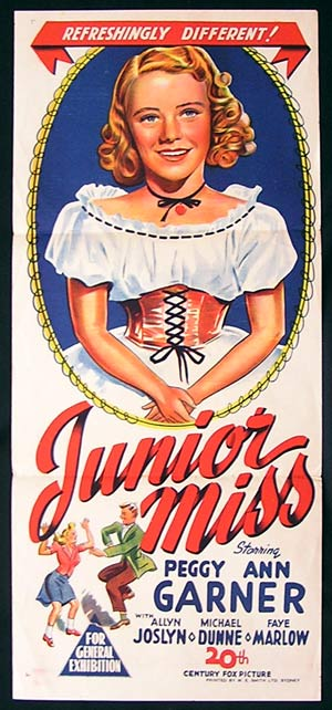 JUNIOR MISS Daybill Movie poster 1945 Peggy Ann Garner