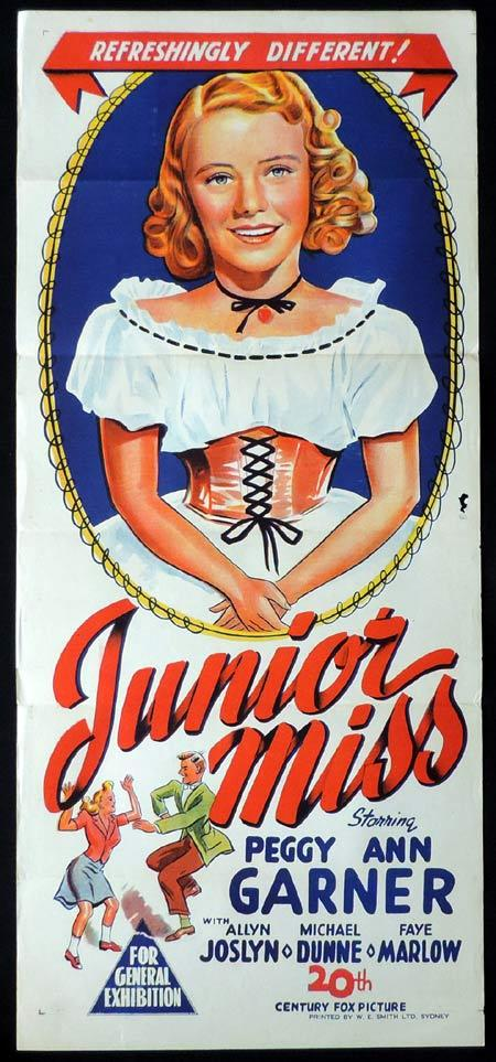 JUNIOR MISS Original Daybill Movie Poster Peggy Ann Garner Allyn Joslyn