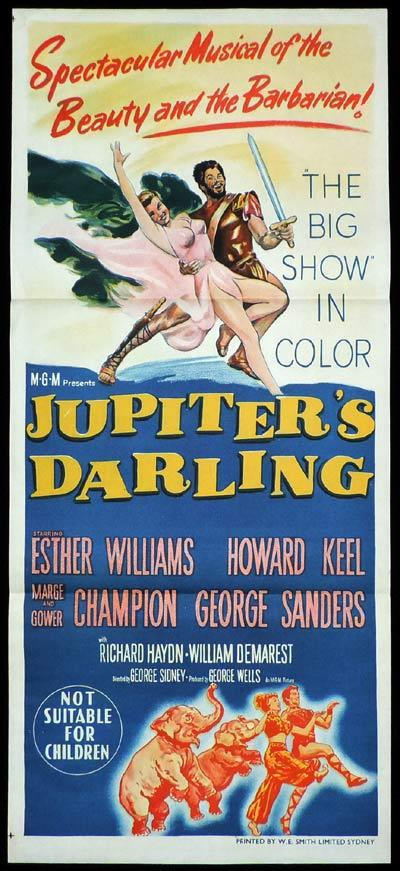 JUPITER'S DARLING Daybill Movie poster Esther Williams