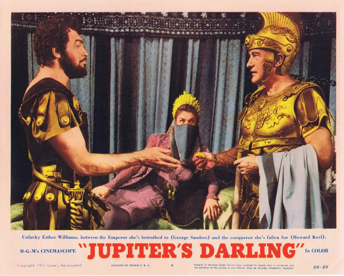 JUPITER'S DARLING Original Lobby Card 4 Esther Williams Howard Keel